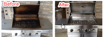 Deep Cleaned Barbecue Grill