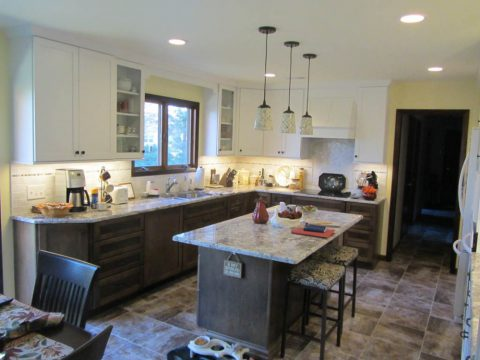 Two Toned Cabinet Kitchen Remodel