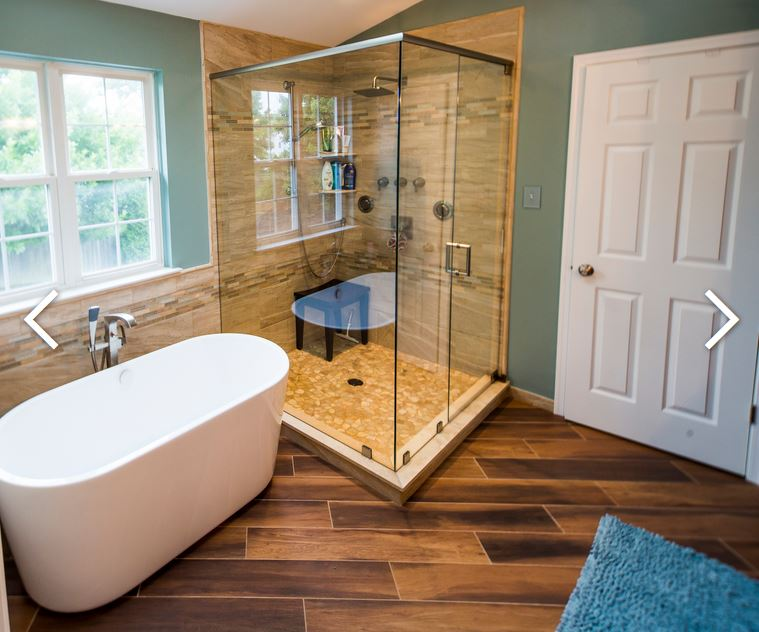 Newly Renovated Bathroom - Oval Tub & Standalone Shower