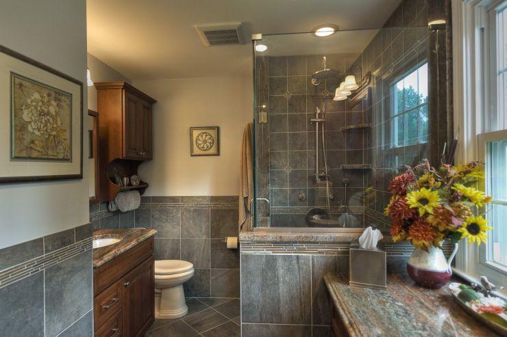 Transitional Style Renovated Bathroom Diamond Kitchen Bath House Home Magazine,Define Intelligent Design