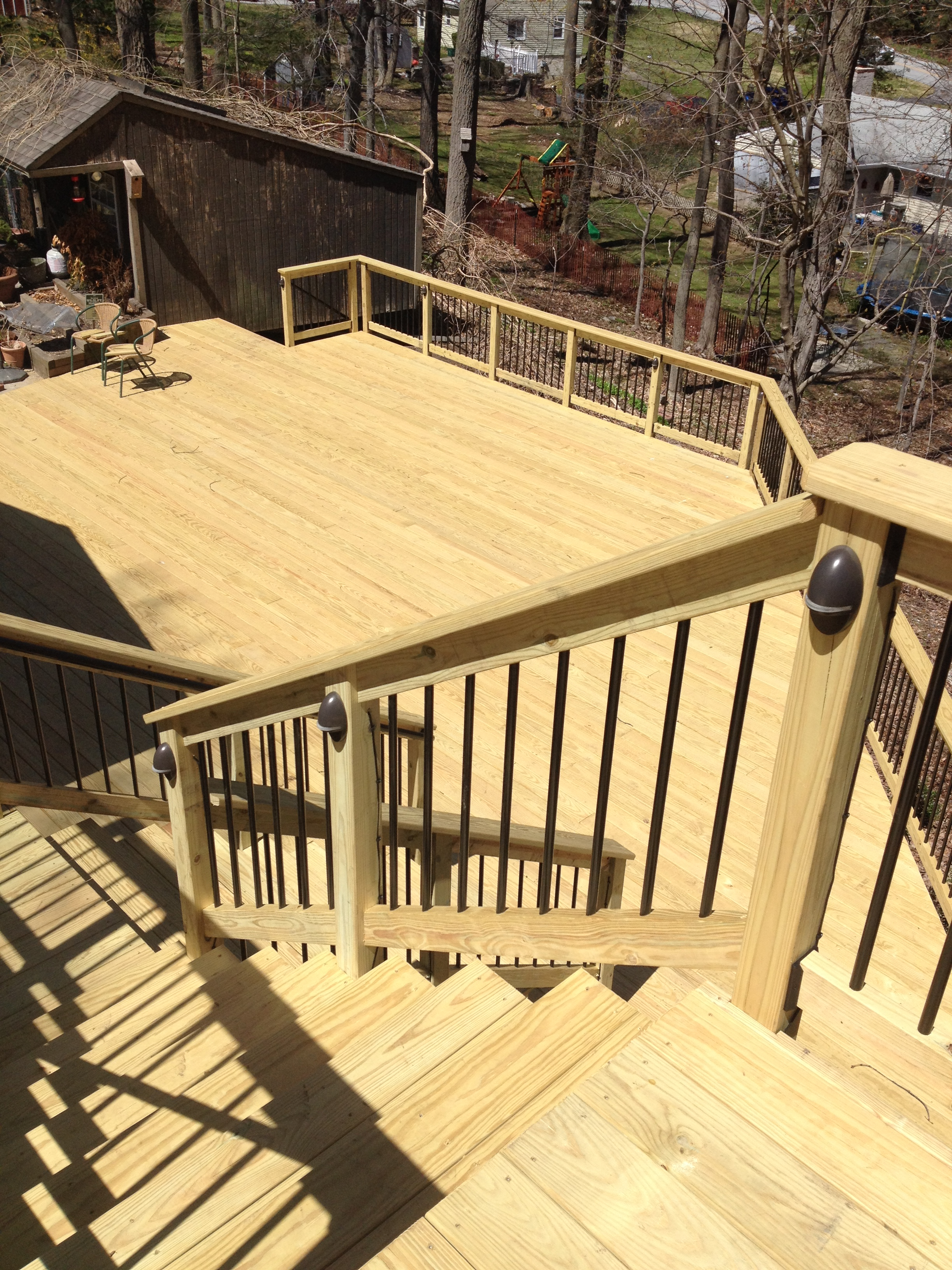 Traditional wood deck in Exton, PA