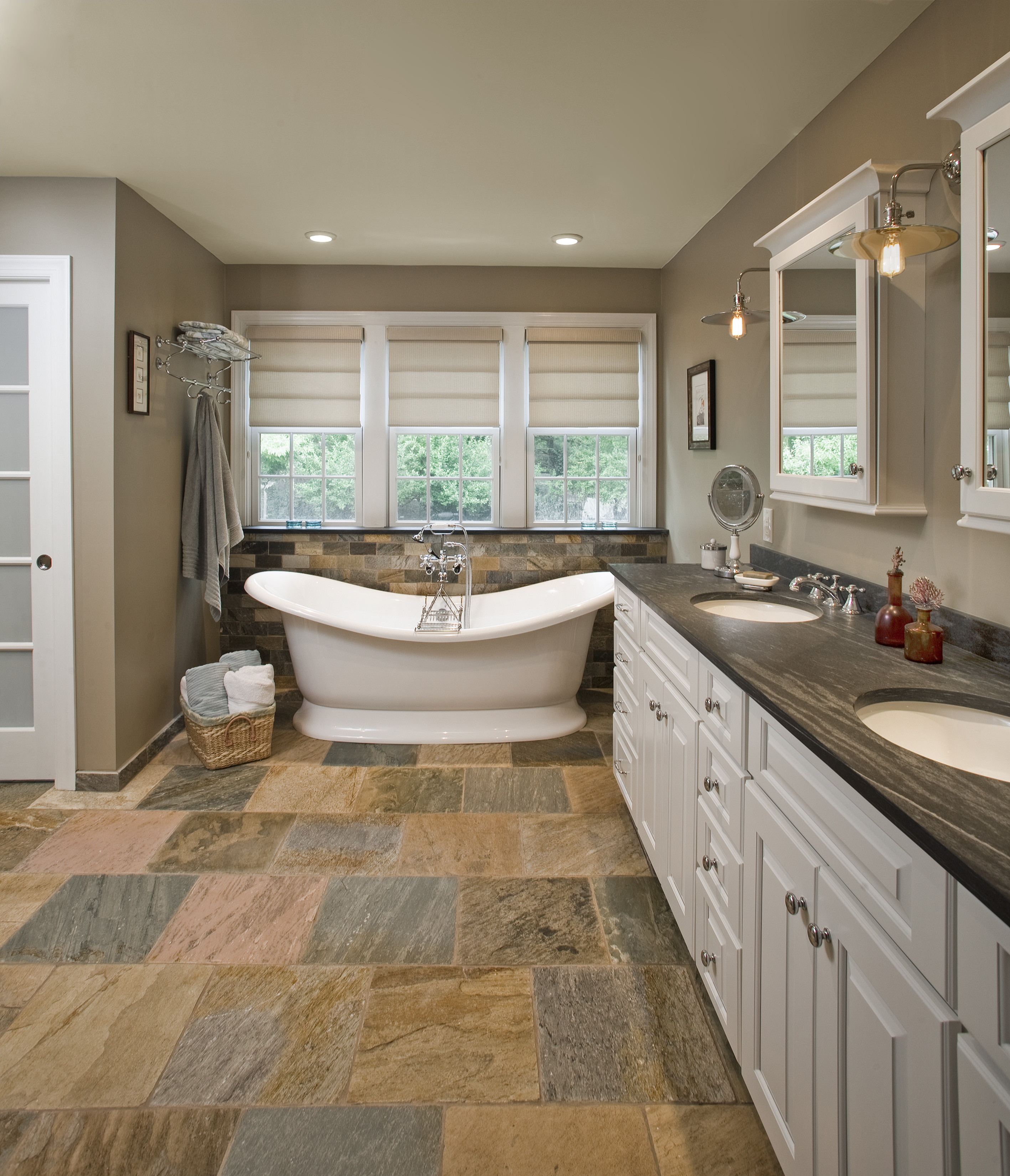 Cottage Eclectic Master Bathroom- Doylestown, PA