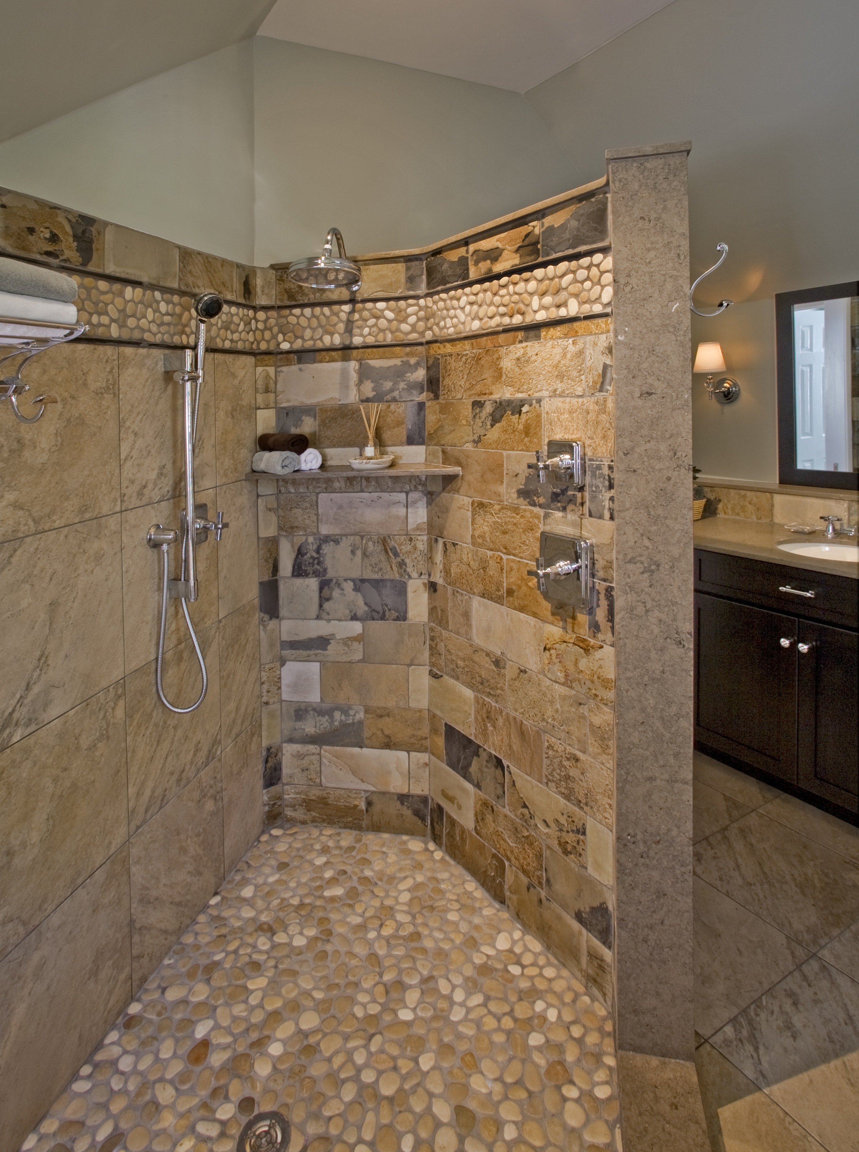 Natural Simplicity Master Bathroom- Chester Springs, PA