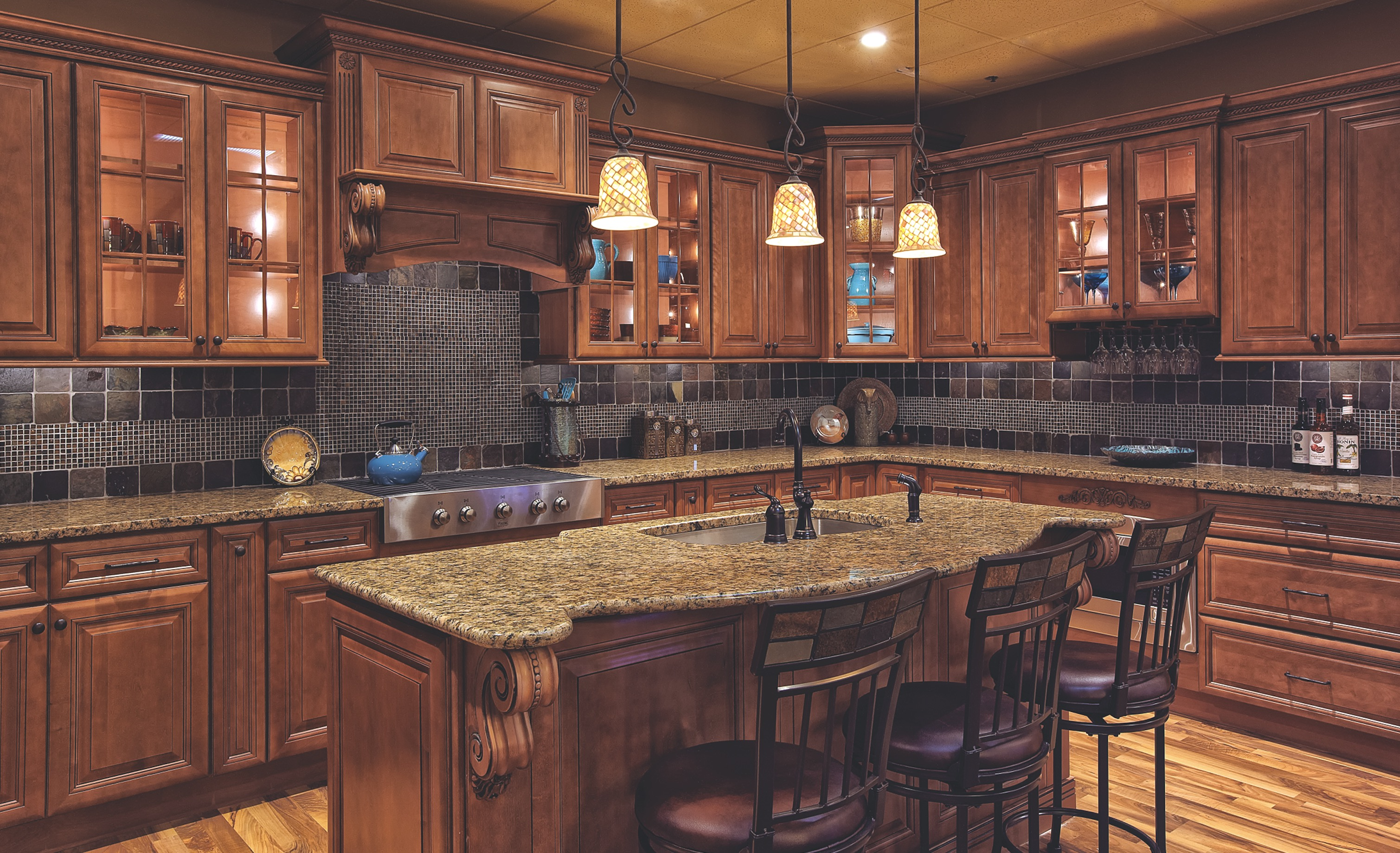 Society Hill Raised Solid Wood Cabinets House Home Magazine