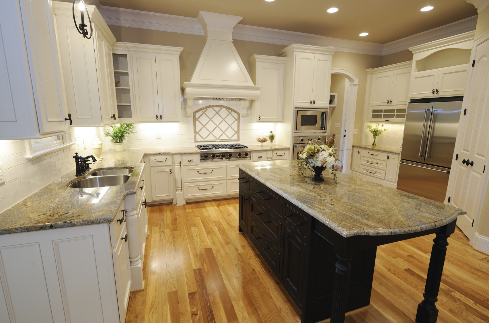 Custom Kitchen with Granite Countertops