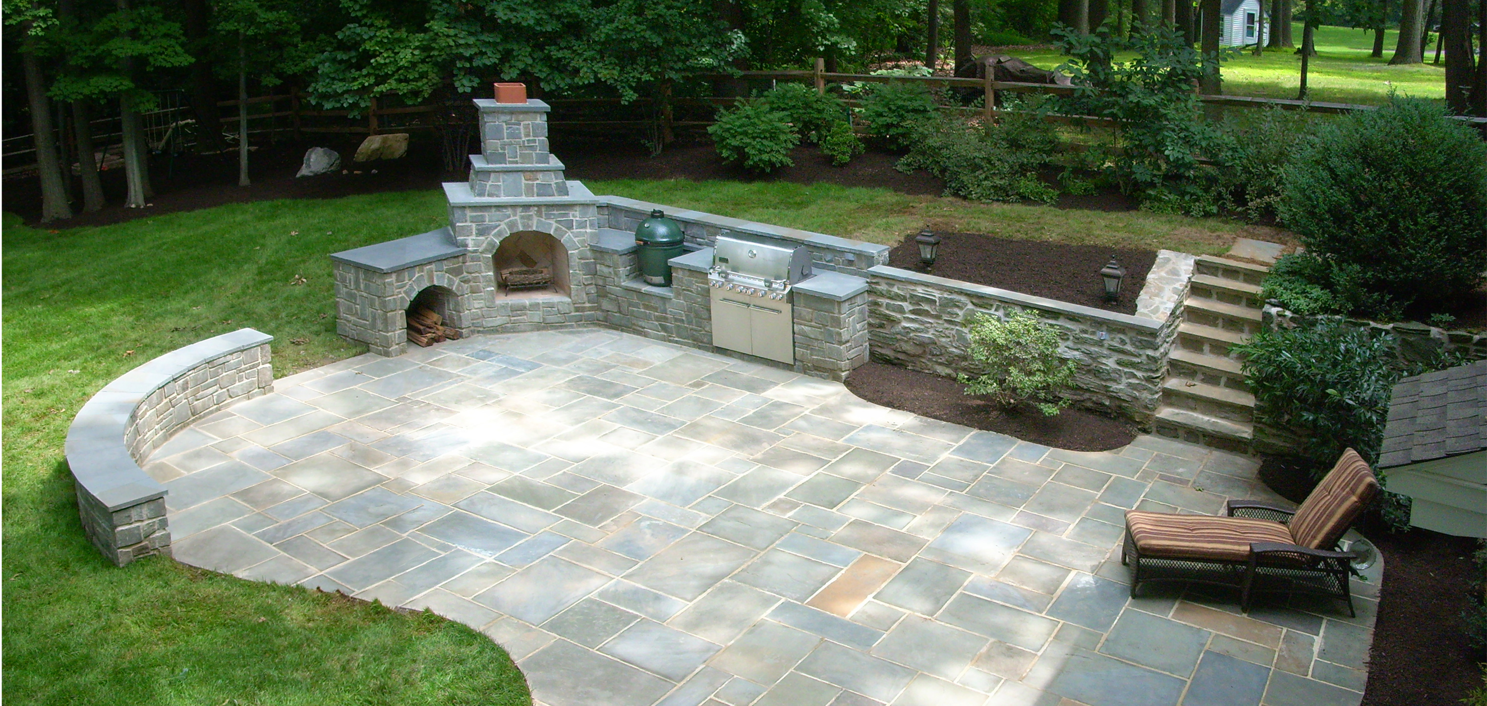 Patios Fire Pits Outdoor Kitchens C M Jones Inc House