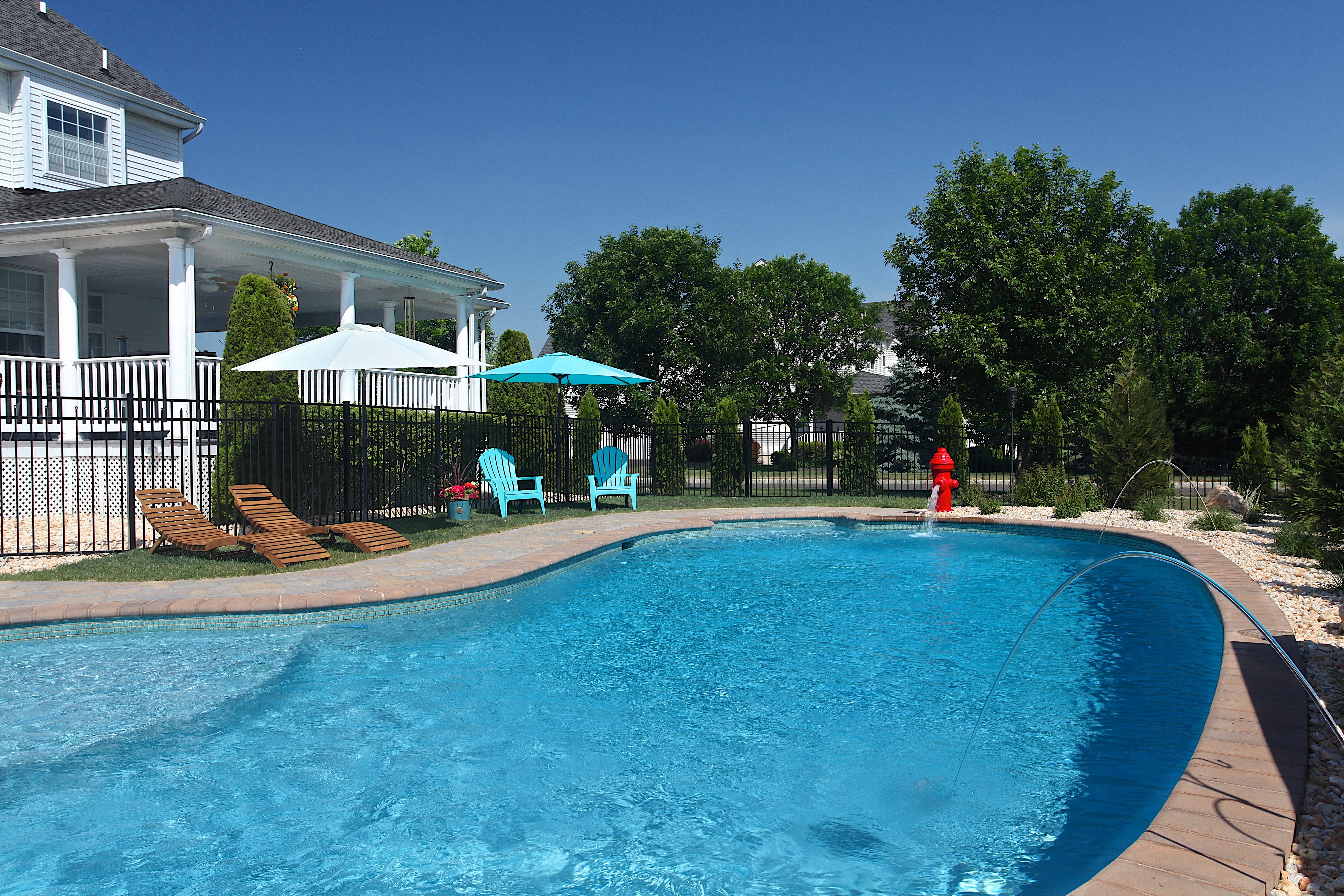 gunite pool greenview designs llc house home magazine - Gunite Pool Design Ideas