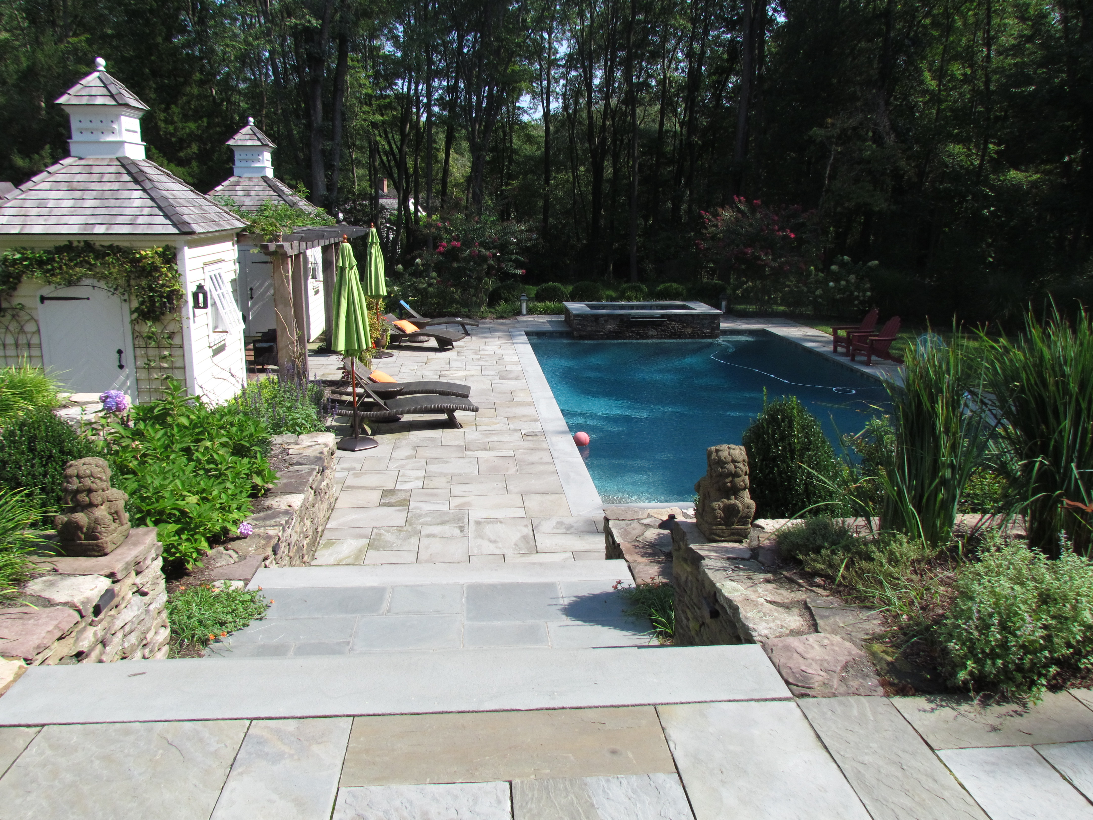 Princeton Poolside Hardscaping and Landscaping