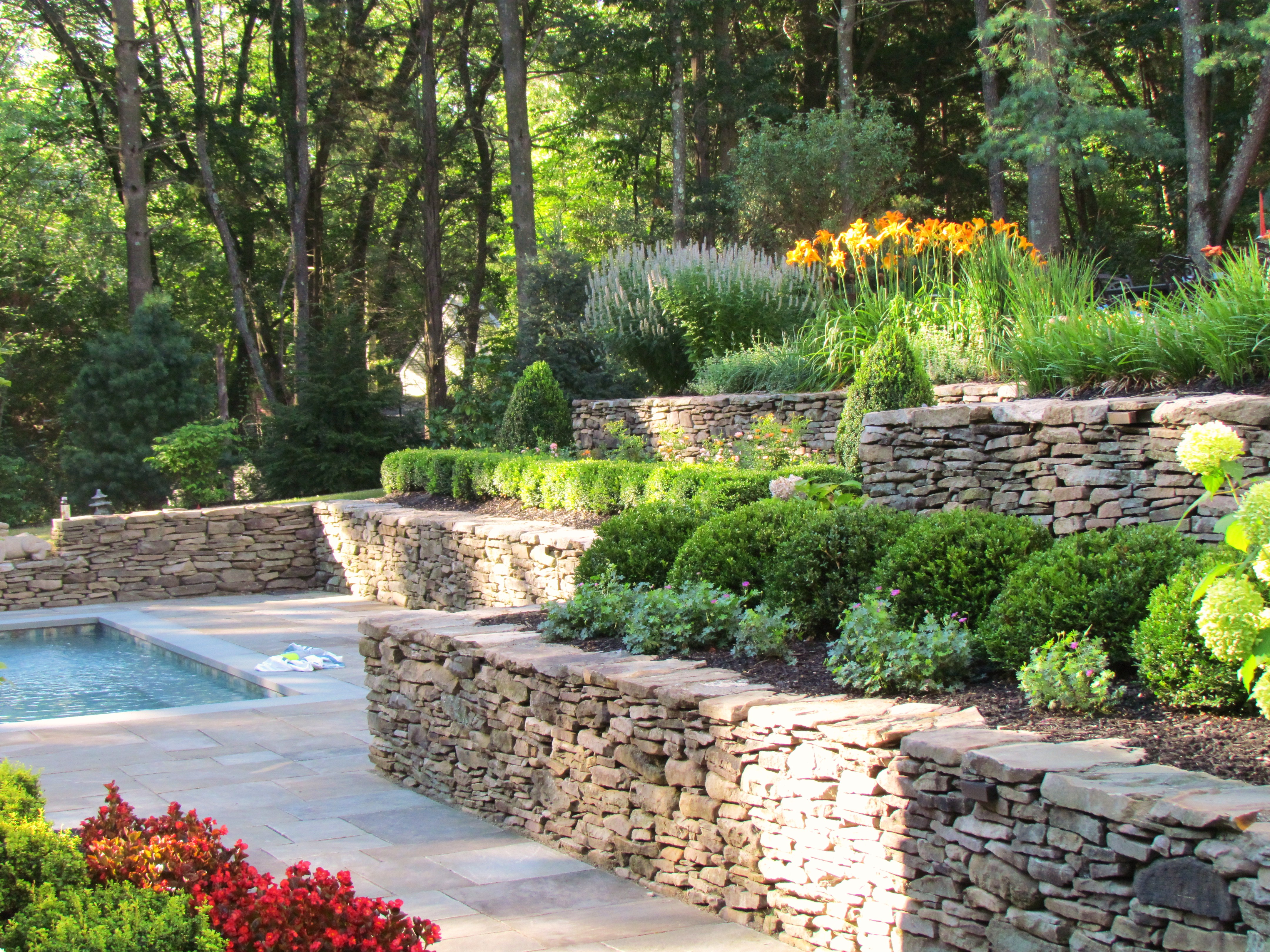 Natural Stone Wall, Gardens, Hardscaping