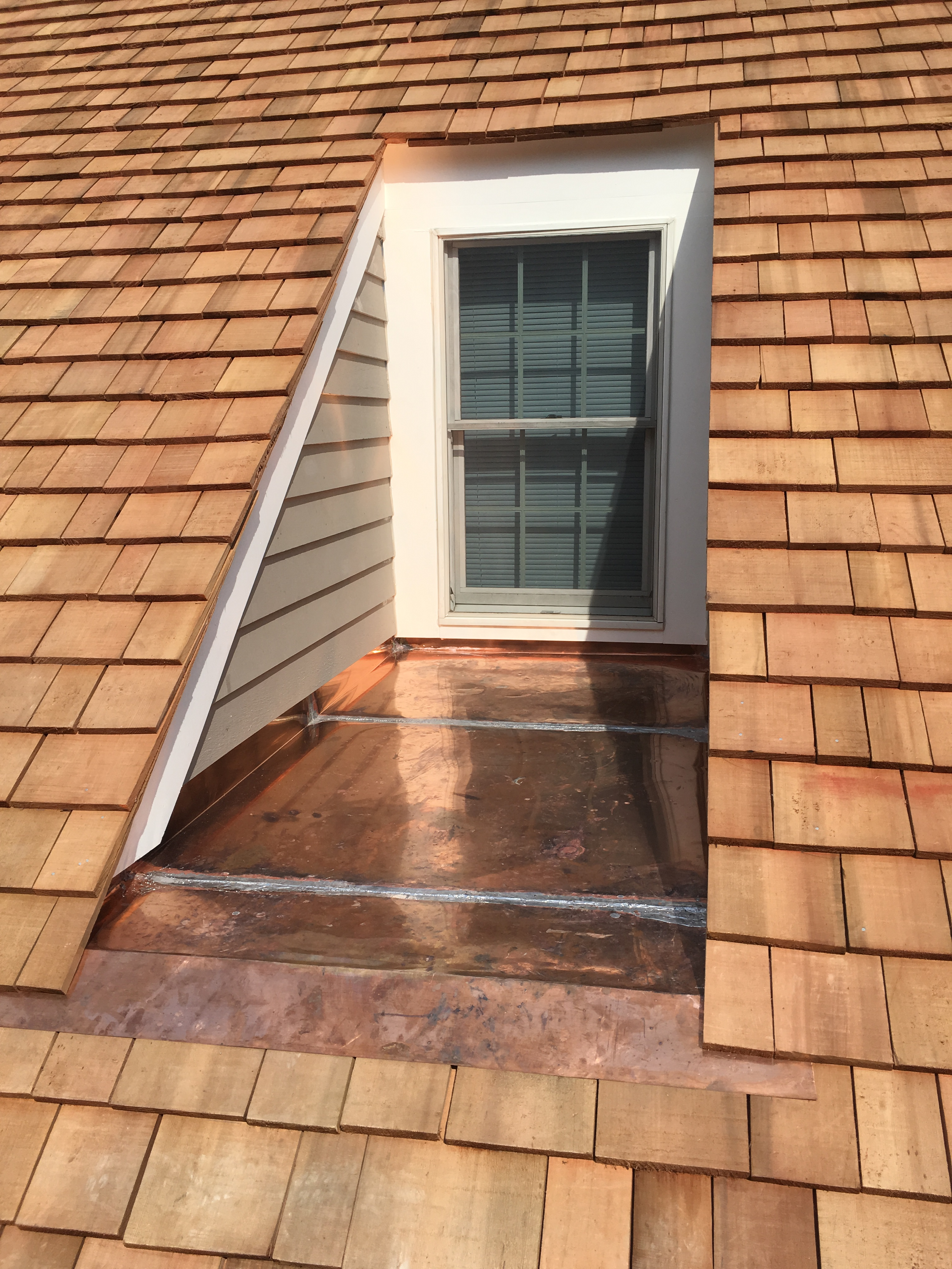Cedar Shakes and Copper Roofing