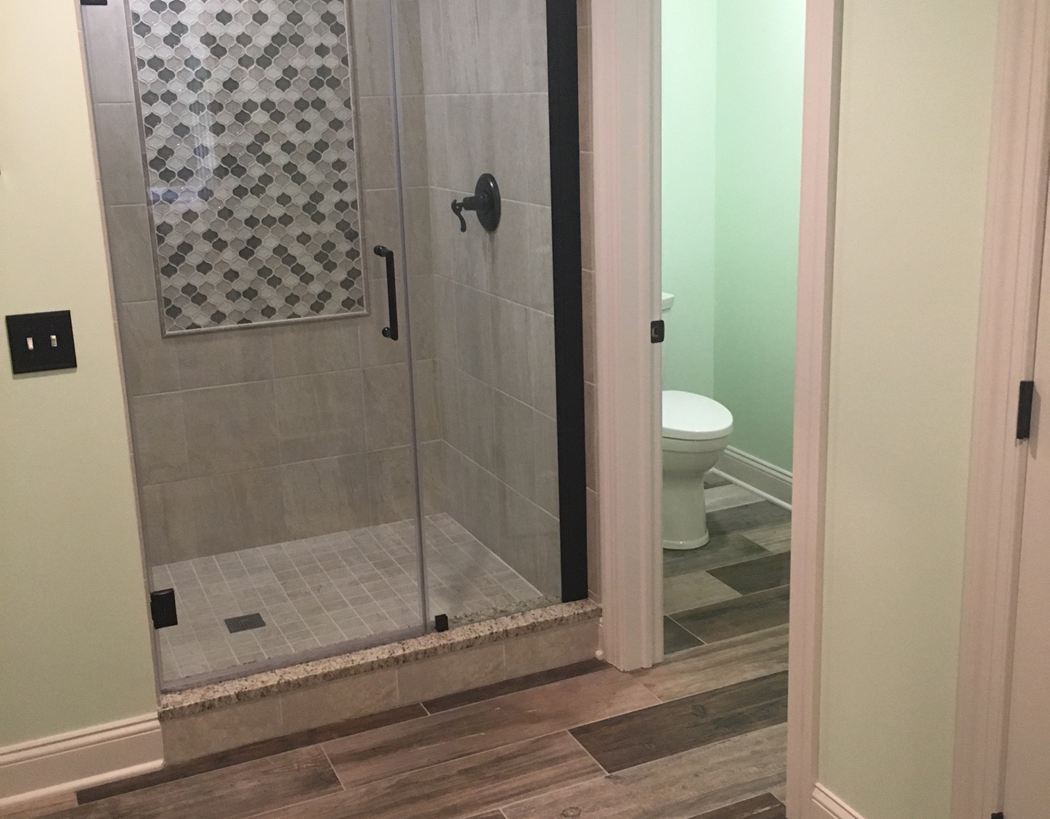 Bath in finished basement