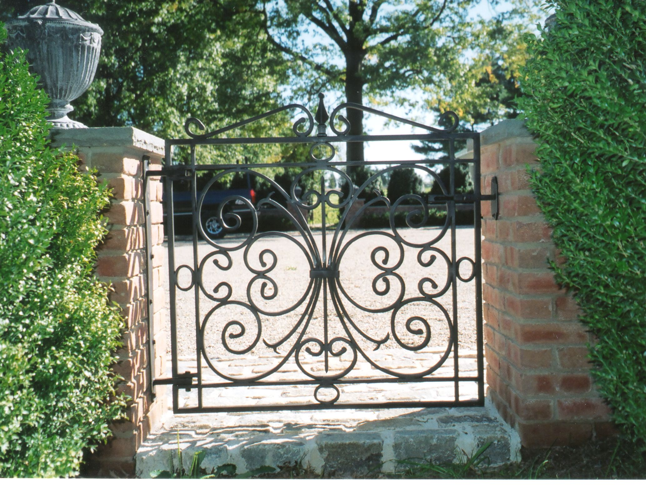 Lawler hand forged aluminum walk gate