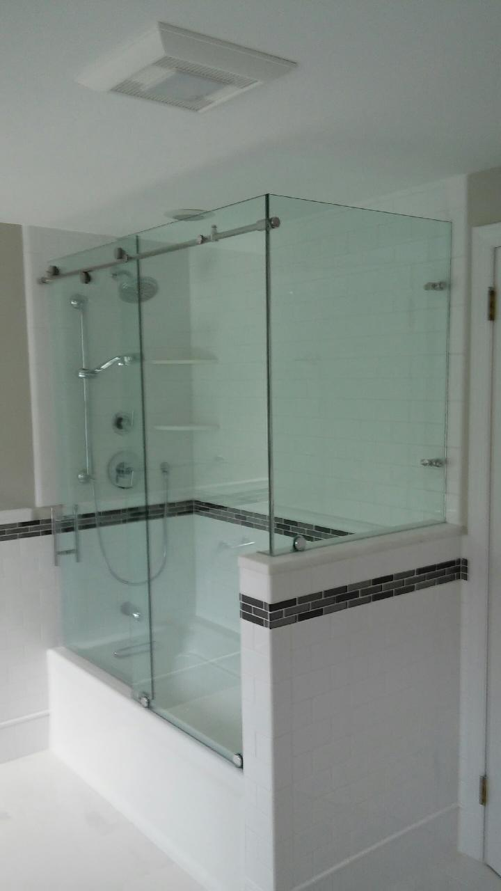 Glass Castle Shower Door - Slider