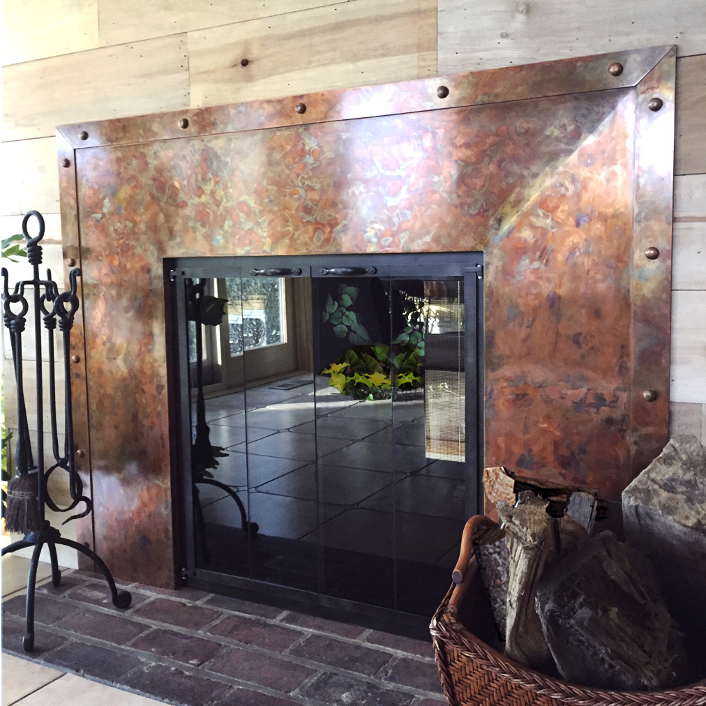 Handmade Copper Fireplace.