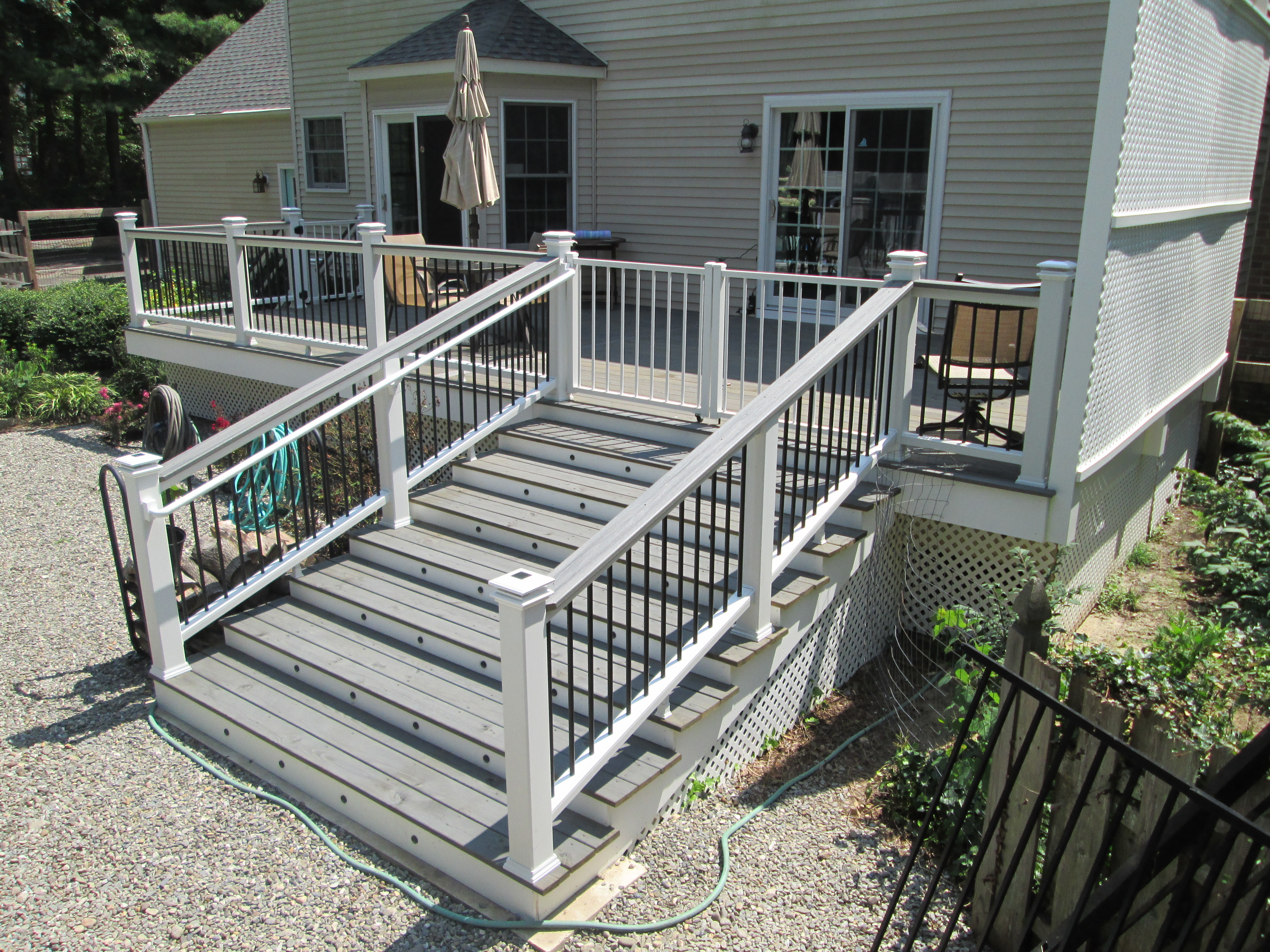 PT Deck Build & Trex Rails