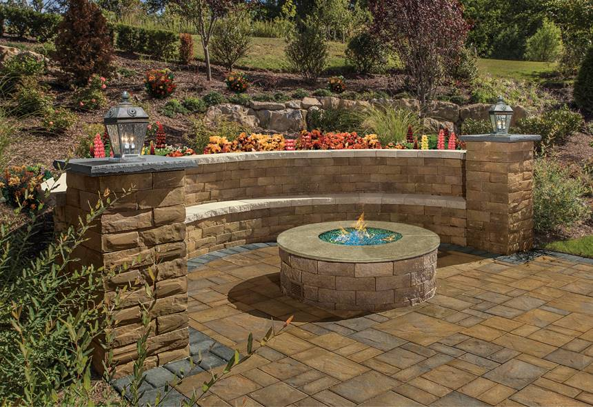 Firepit and Retaining Wall