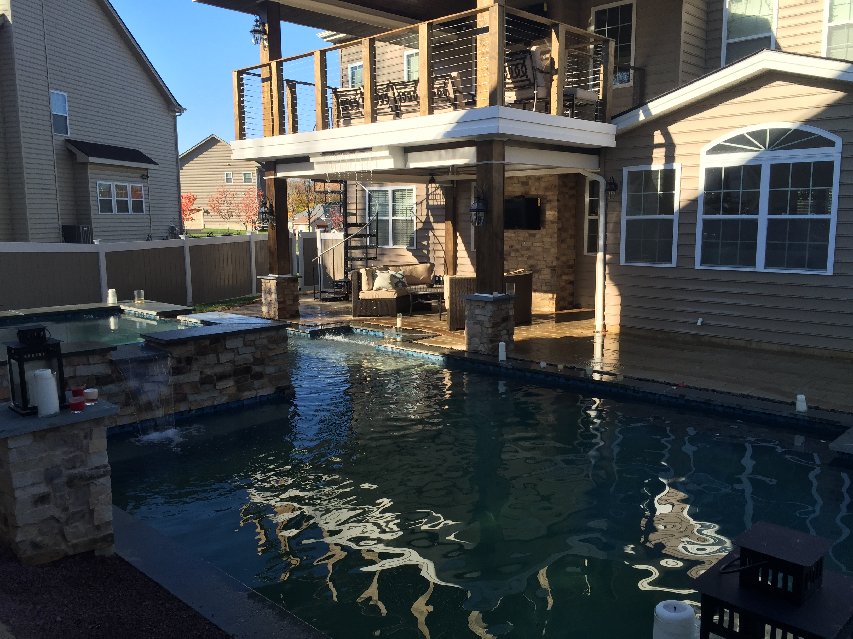 Trevose Pool with Outdoor Living