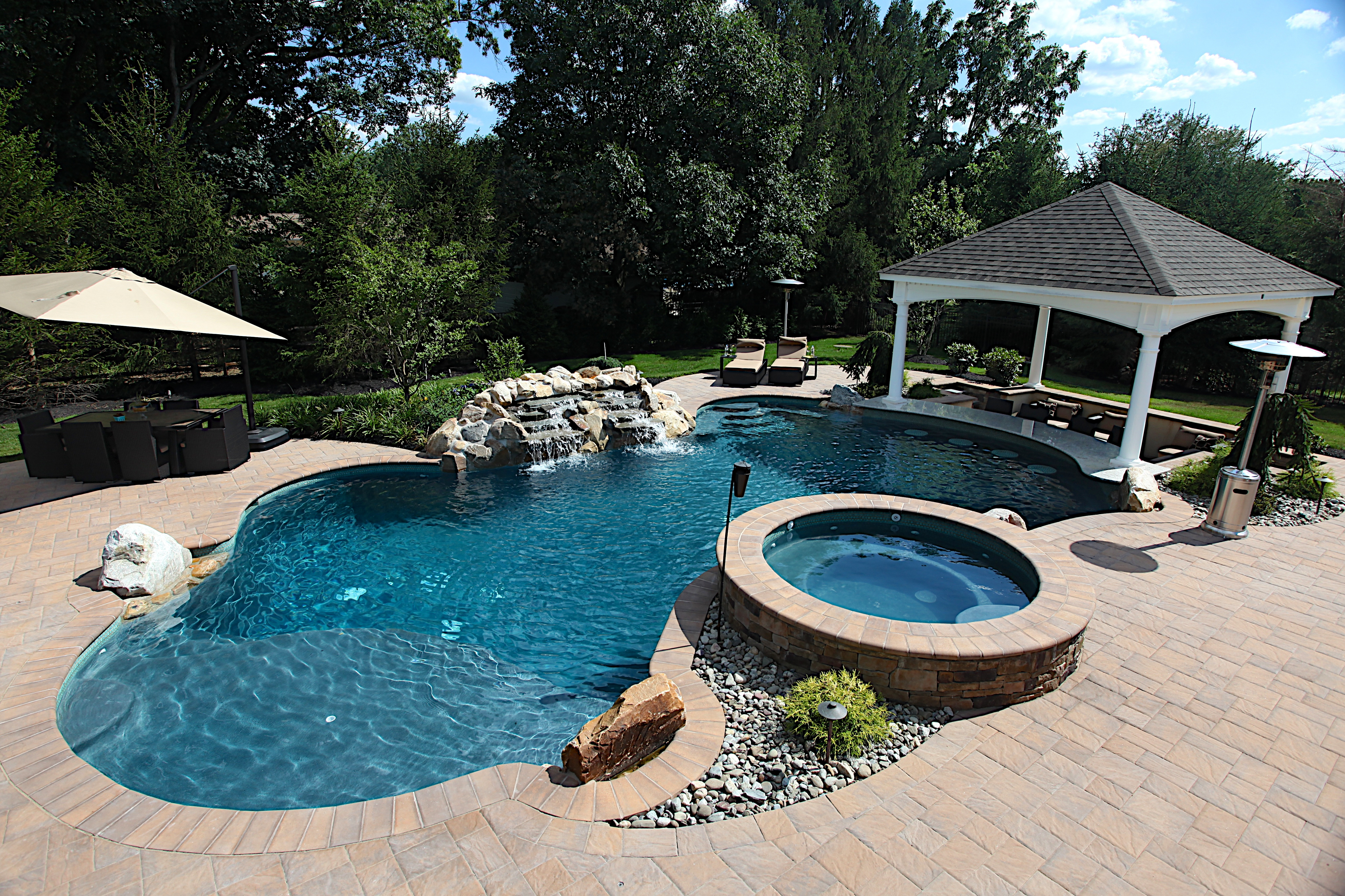 Landscaping around pool greenview designs llc house for Pool design magazine