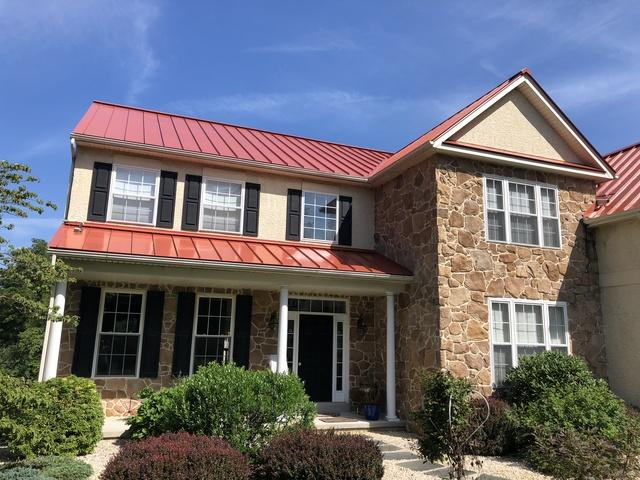 replacing shingle roof with metal seam roofing